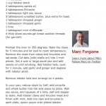 Chili Loster Recipe Marc Forgione
