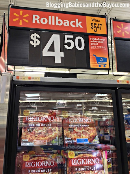 Affordable and Easy Game Day Menu Ideas DiGiorno Pizza Rollback at Walmart $4.50 #GameTimeGoodies #shop  #cbias