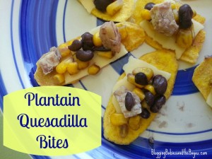 Game Day Recipes – Plantain Quesadilla Bites