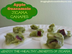 Apple-Guacamole Jicama Canapes