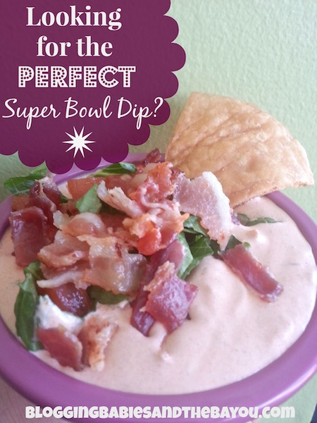 Looking for the perfect Super Bowl Sunday Football Party Dip Try Spicy BLT Dip