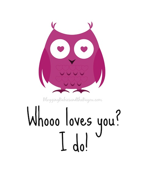 whoo loves you Valentines Graphic and Printable