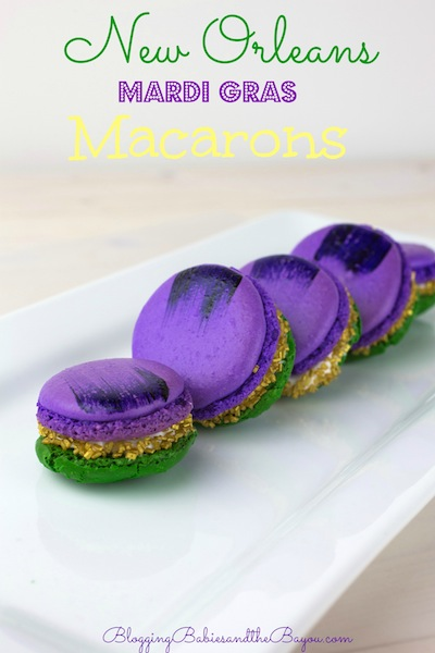 Carnival Creation - New Orleans Mardi Gras Inspired  Macarons