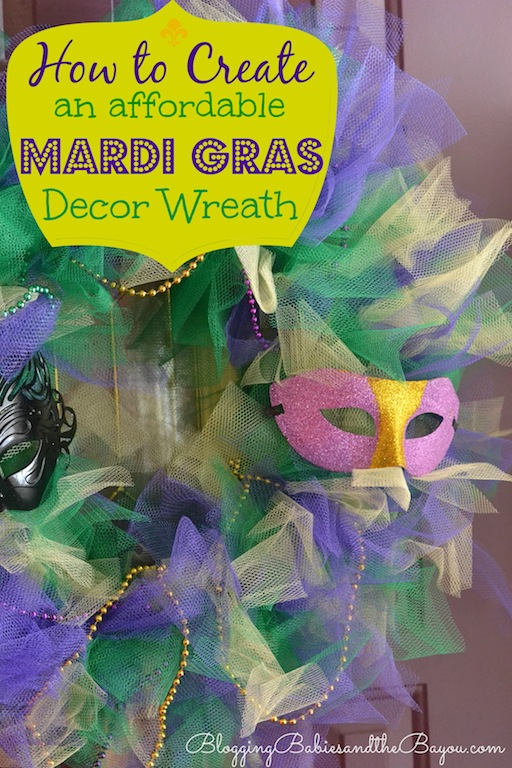 How to Create an Affordable DIY Mardi Gras Wreath