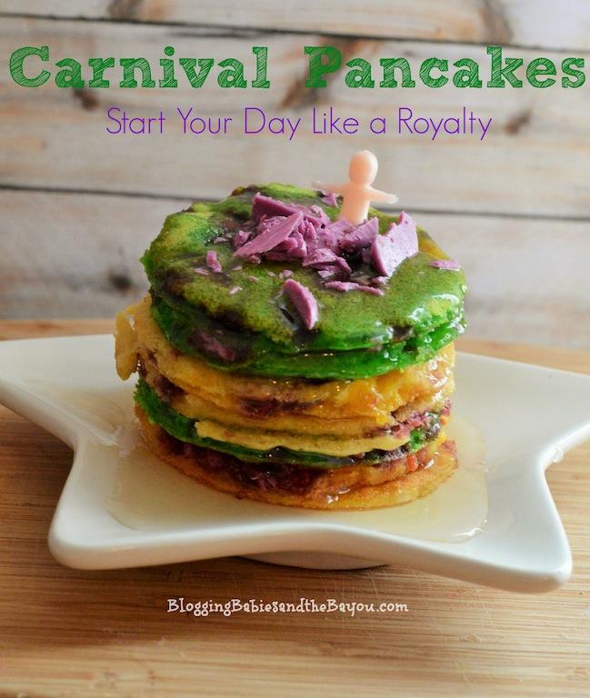 Mardi Gras Inspired Recipes - Carnival Pancakes