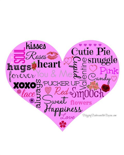 Speaking Love- Valentines Graphic and Free Printable