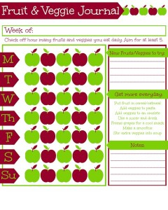 Make Life Easier – Tips on Weekly Menu Plans + Fruits & Veggies Printable
