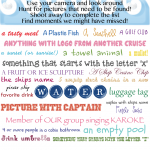 Free Family Cruise Scavenger Hunt Printable