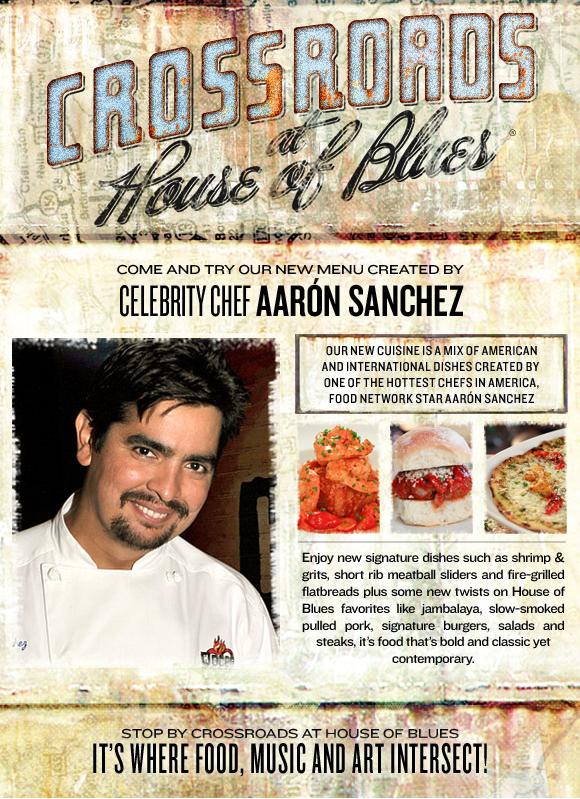 "<a href=""http://bloggingbabiesandthebayou.com/wp-content/uploads/2014/03/HOB-NOLA_DINNER_12191Crossroads House of Blues Celebrity Chef Aaron Sanchez Menu"