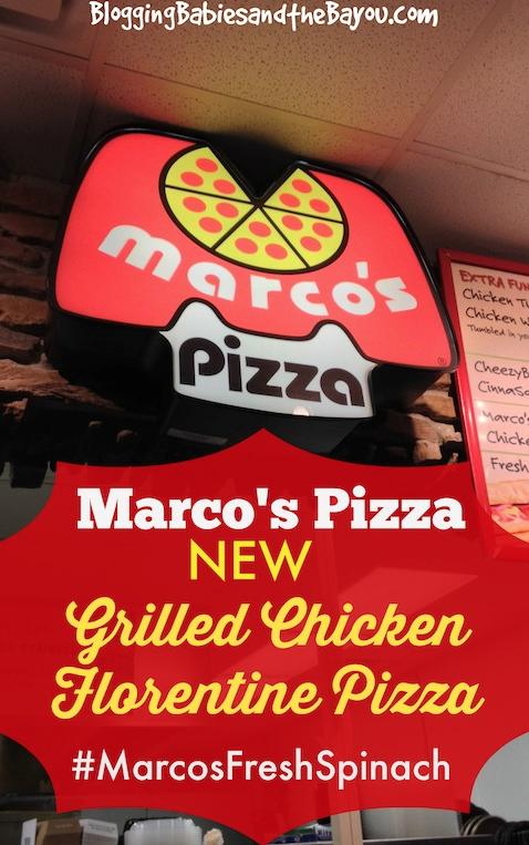 Marco's Pizza New Grilled Chicken Florentine  #MarcosFreshSpinach