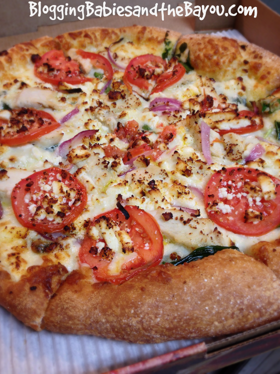 Marco's Pizza New Grilled Chicken Florentine  #MarcosFreshSpinach #Ad