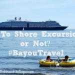To Shore Excursion or Not Tips to Cruise Travel #BayouTravel
