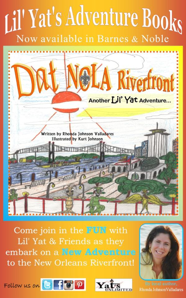 Local Children's Book Author Rhonda Johnson Valladares and Kurt Johnson (Illustrator) encourage young readers to love life in New Orleans in their newest book, DAT NOLA Riverfront now available at Barnes and Noble.