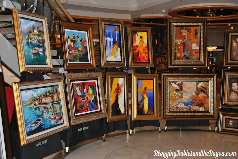 Art Lovers Paradise aboard Royal Caribbean Liberty of the Seas #SeastheDay #BayouTravel