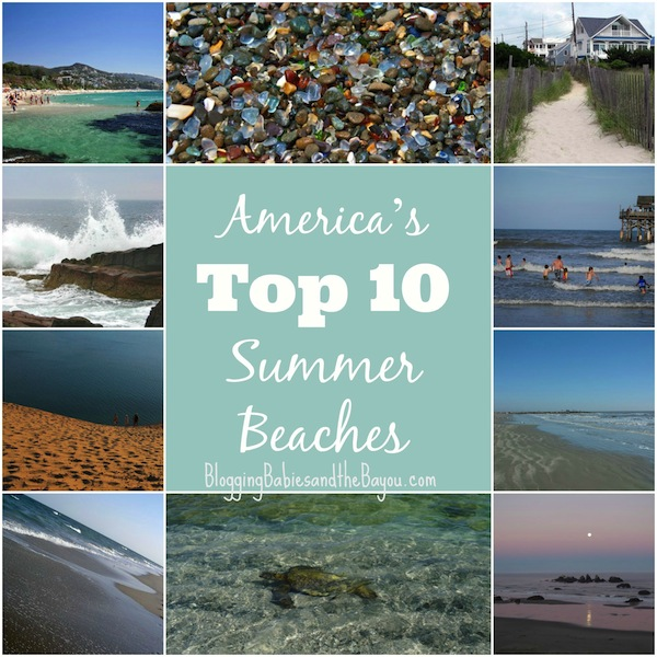 Top 10 U.S Summer Beaches + Free Beach Bag Packing List Printable #BayouTravel