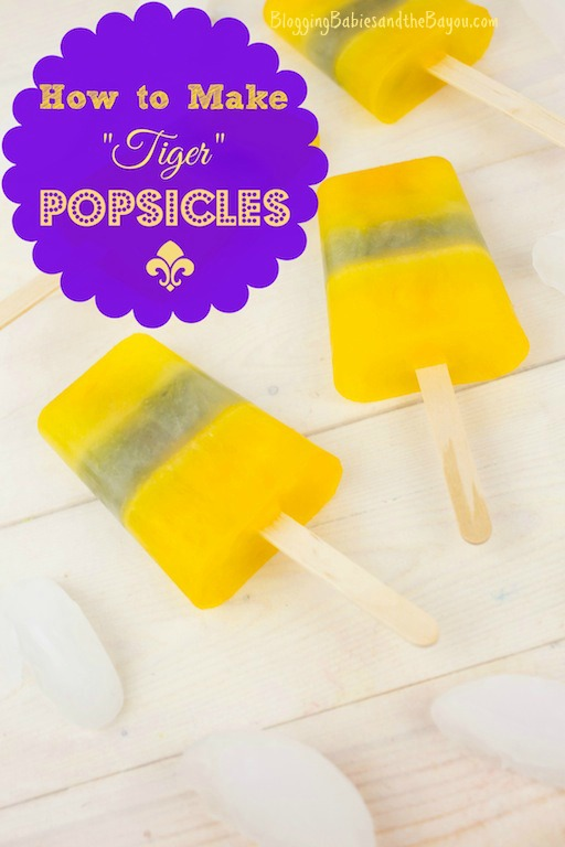 How to make LSU Inspired Popsicles #BayouTravel