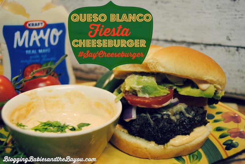 Queso Blanco Fiesta Cheeseburger #SayCheeseburger #Cbias #CollectiveBias #Shop