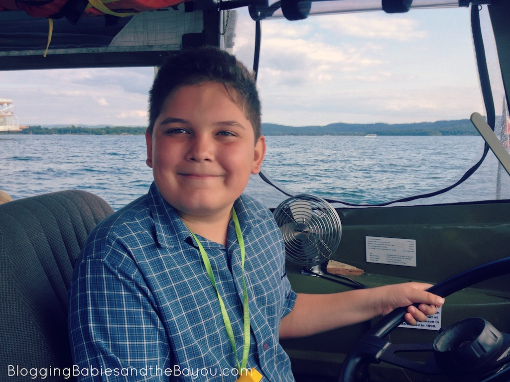Our personal Ride the Ducks Captain! Ride the Ducks offers tours by land and water. #ExploreBranson #BayouTravel