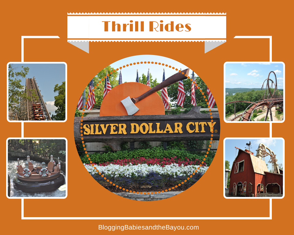 Thrill Rides at Silver Dollar city - Tops Family Attraction in Branson Missouri #ExploreBranson #BayouTravel