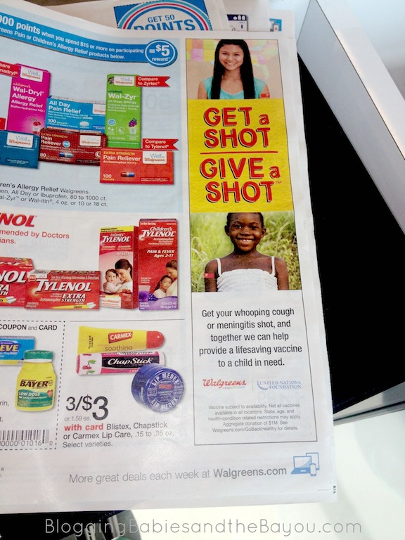 Walgreens Get a Shot - Give a Shot Give back when you use Walgreens for vaccinations this school year. #GiveaShot #Cbias #Shop