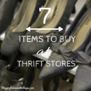 Money Saving Monday Series – 7 Items to Buy at Thrift Stores