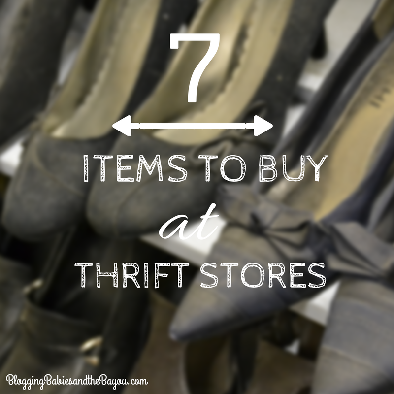 7 Items to Buy at Thrift Stores