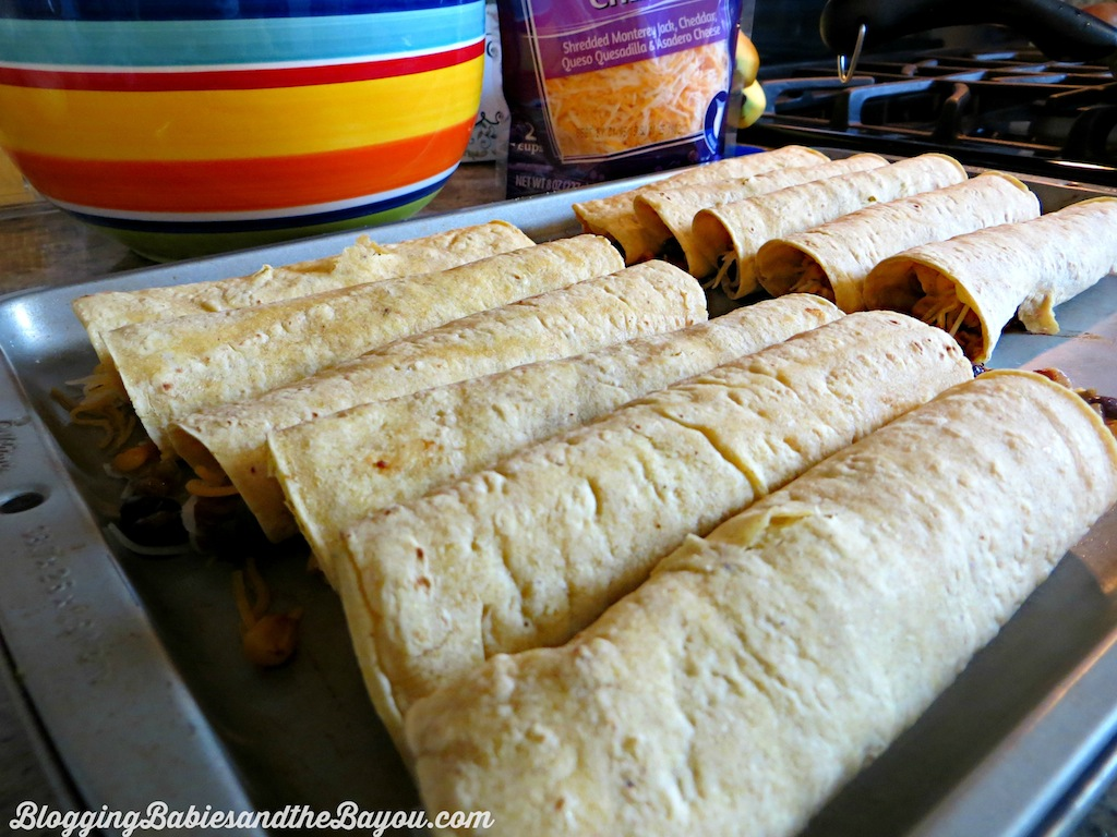 Game Day Baked Taquitos - Process for Baked Taquitos