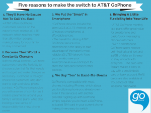 Five_reasons_to make_the_switch to AT& T GoPhone