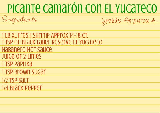 Picante Camarón con El Yucateco