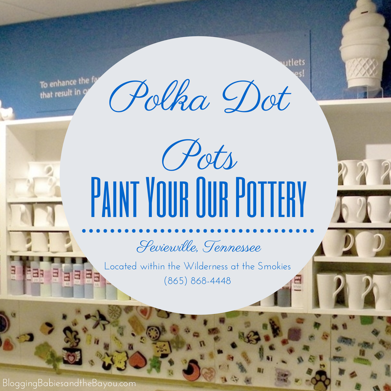 Polka Dot Pots - Paints Your Own Pottery #BayouTravel