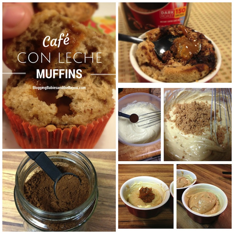 Cafe Con Leche muffin Collage - Step by Step Process Pictures #NuestroSabro #MyColectiva #CollectiveBias #Shop