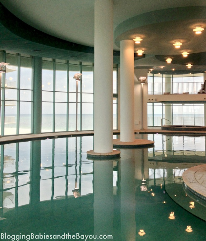 Indoor Pool, Saunas and more at Turquoise Place, Spectrum Resorts in Orange Beach, Alabama #BayouTravel