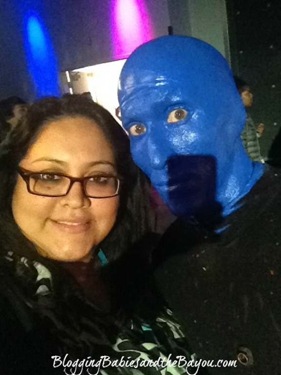 Blue Man Group Selfie - Universal Studios Orlando #BayouTravel