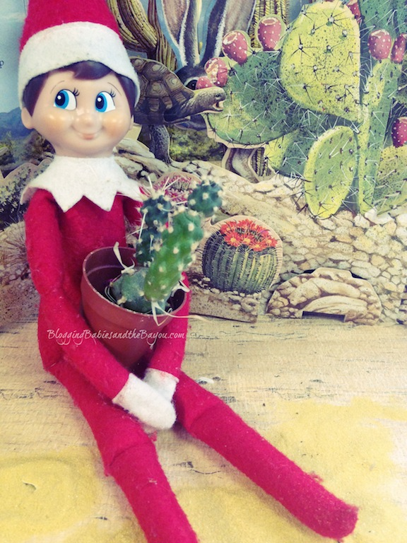 Elf Warm Weather Travel  - Elf on the Shelf- Winter Escape #BayouTravel Series
