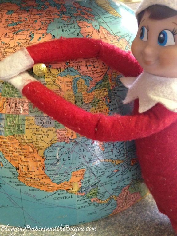 Elf planning her After Christmas Getaway - Elf on the Shelf- Winter Escape #BayouTravel Series