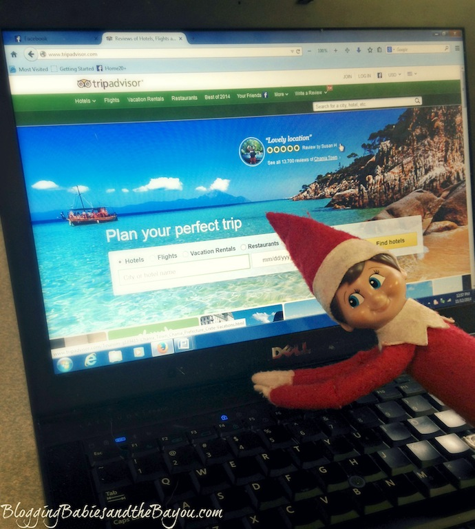 Getting a hotel travel review through TripAdvisor - Elf on the Shelf- Winter Escape #BayouTravel Series