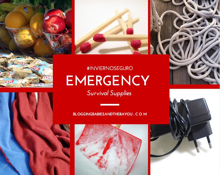 Emergency Road Survival Supplies #InviernoSeguro