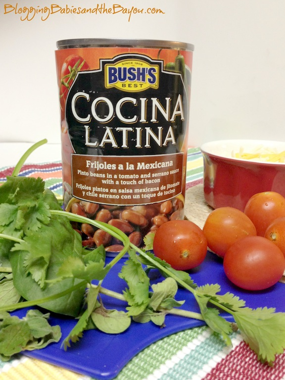 How to use Bushs Cocina Latina Pinto Beans - Whole Wheat Vegetarian Bean Tostadas #ElFrijolazo #Ad #Recetas