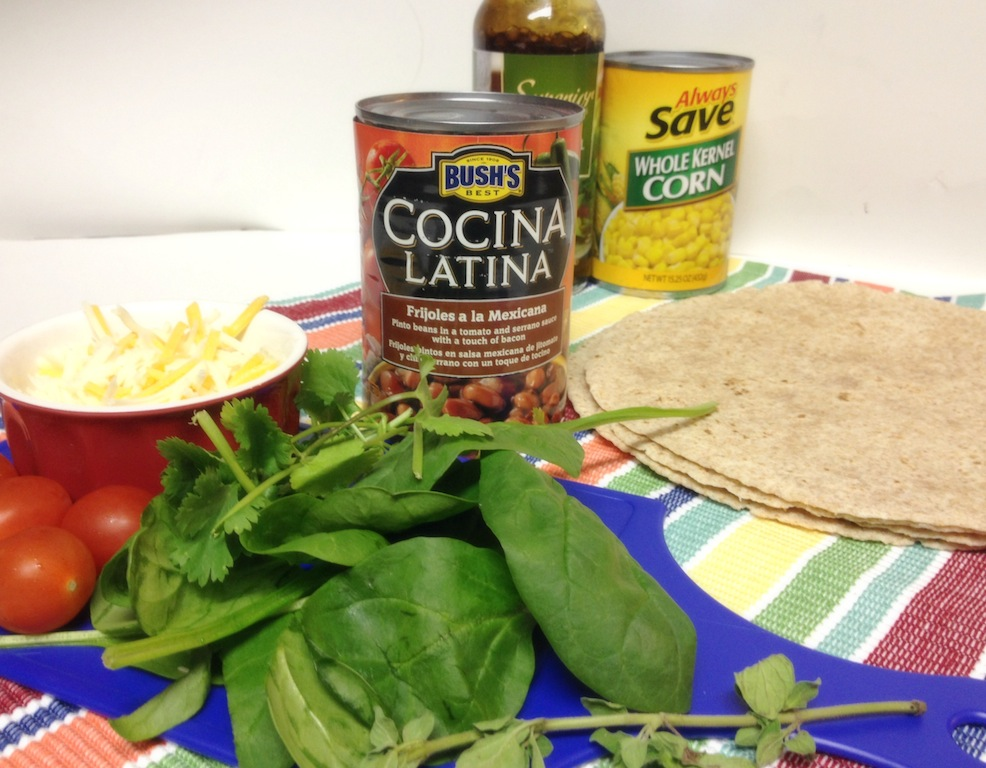 Ingrident List - Whole Wheat Vegetarian Bean Tostadas #ElFrijolazo #Ad #Recetas