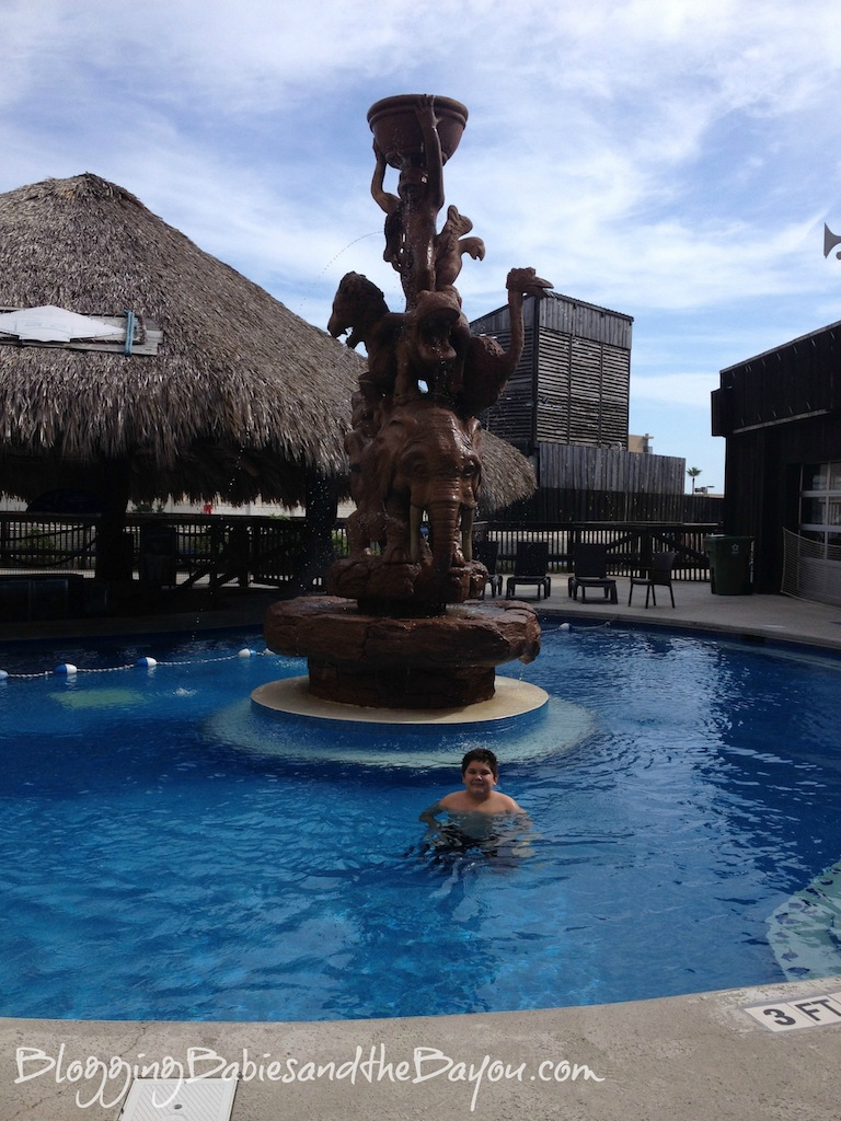 Outdoor Heated pool at Schlitterbahn Beach Waterpark and Resort – South Padre Island #Ad