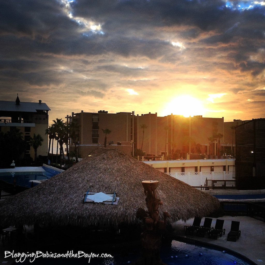 Sunrise view in the Morning at Schlitterbahn Beach Waterpark and Resort – South Padre Island #Ad