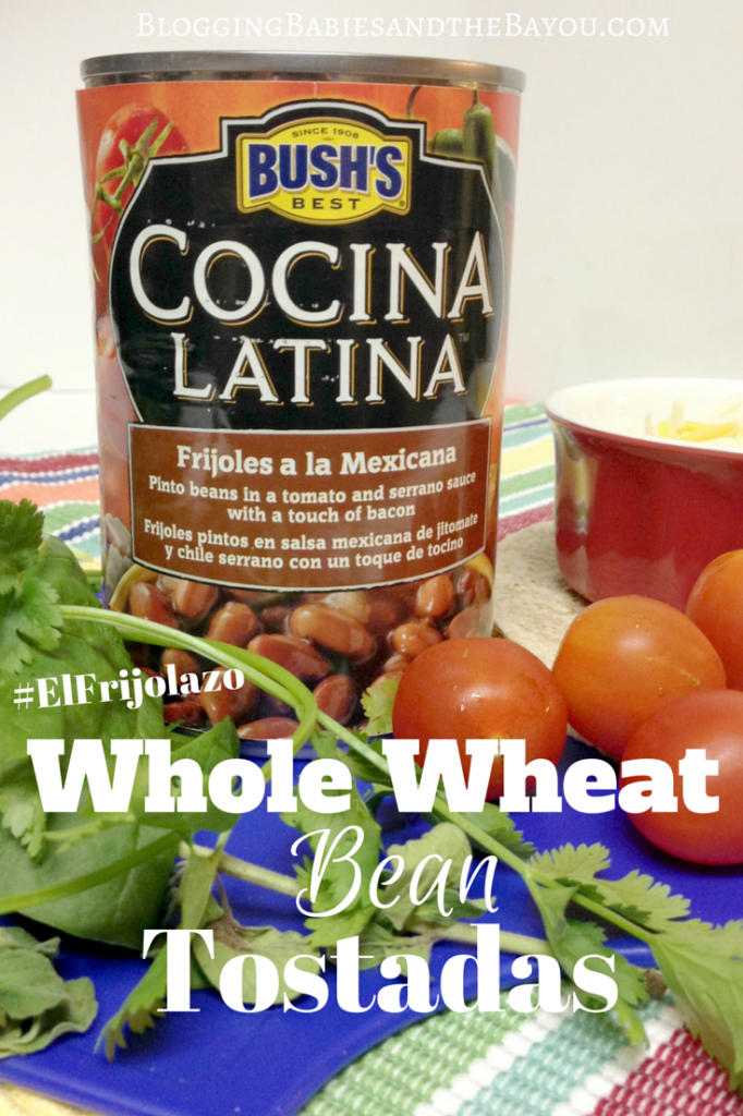 Whole Wheat Bean Tostadas #ElFrijolazo #Ad(2)