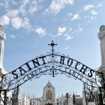 New Orleans Walking Tours -Entrance of Saint Roch Cemetery #BayouTravel