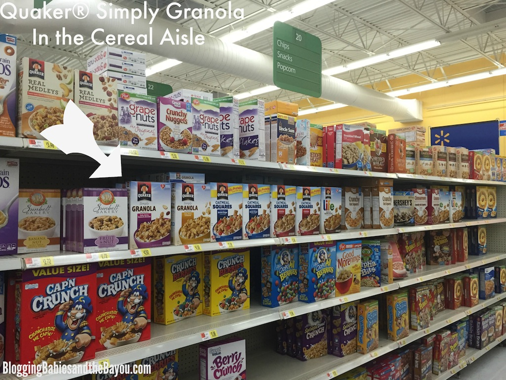 Quaker® Simply Granola in the cereal aisle #QuakerUp #LoveMyCereal #Spon
