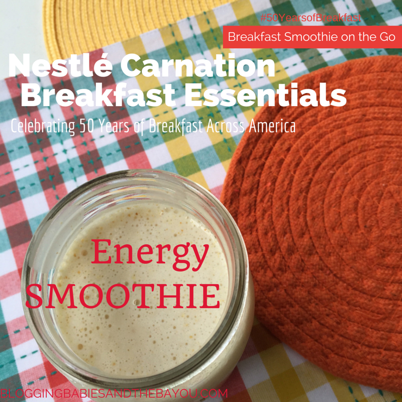 Breakfast Energy Smoothie - Nestle Carnation Breakfast Essentials 50 Years of Breakfast Across America #50YearsofBreakfast #ad