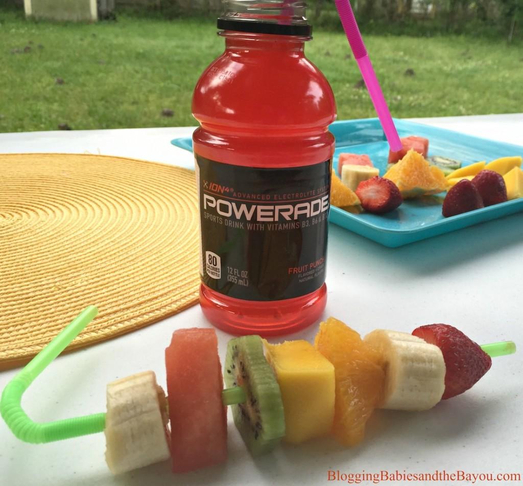 Game Snack Ideas - Powerade & FruitKabobs #SidelineHero #Ad