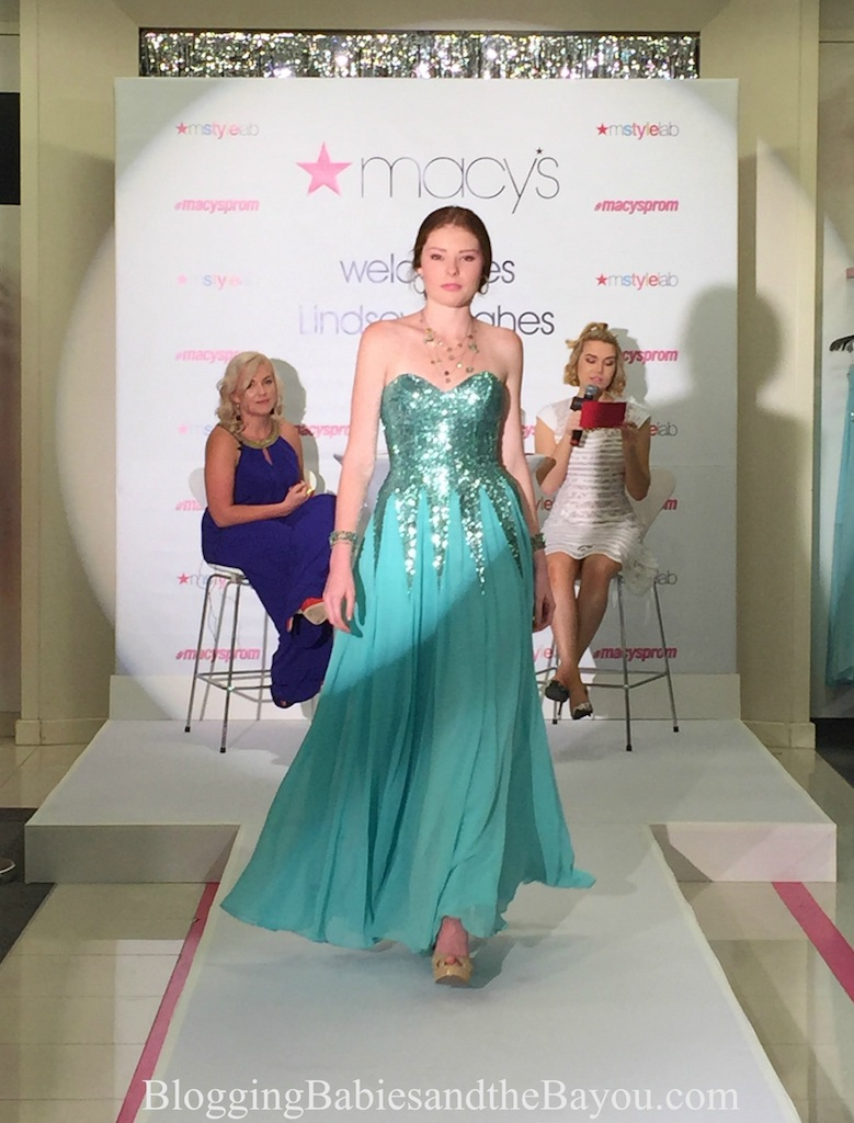 Lindsey Hughes - Macys Prom Fashion Show - Lakeside Mall using local teen models Louisiana #MacysProm