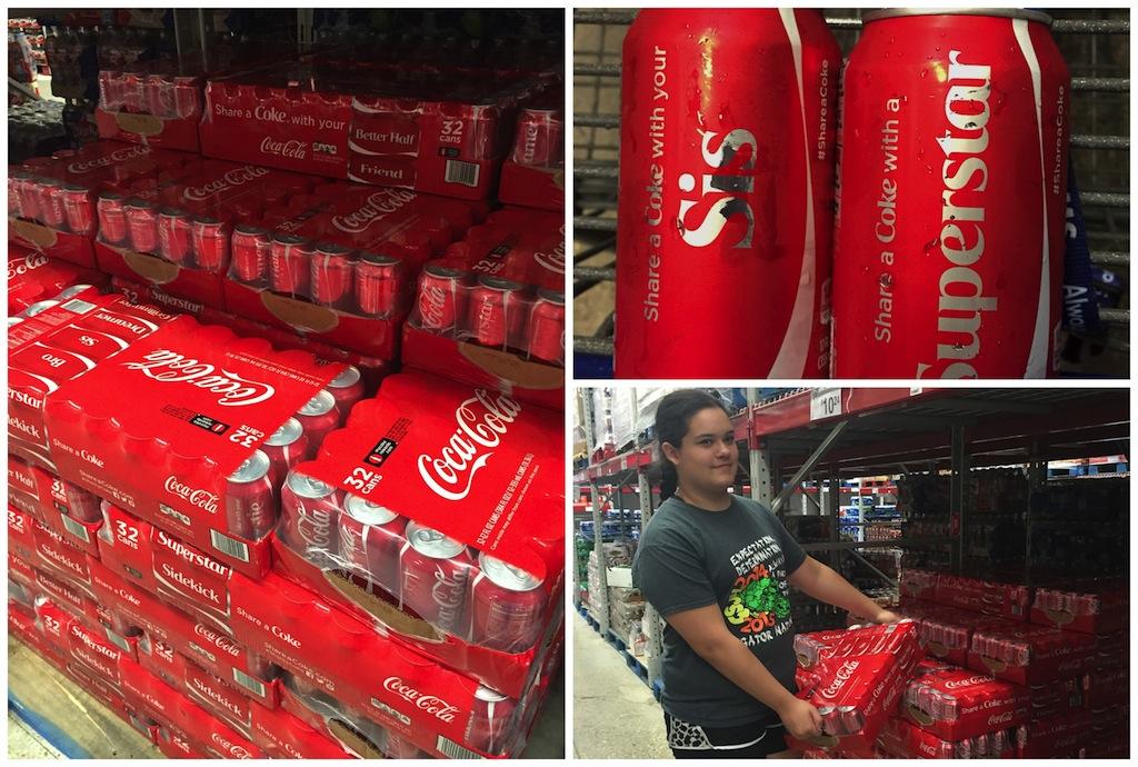 Sams Club Coca-Cola Demo Event - Share a Coke Graduation Gift Idea + Free Graduation Favor Tag Printable #ShareItForward #ad