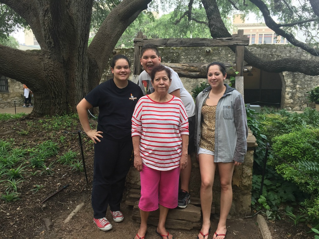 #BayouTravel and family at the Alamo 2015 #BayouTravel