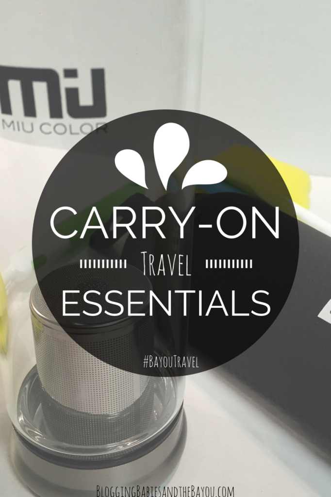 Carry-On Travel Essentials #BayouTravel MIU COLOR®